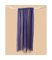 lenço em modal - lenço índia cor: azul - tamanho: único