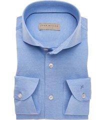 john miller overhemd licht effen tricot oxford cutaway slim fit