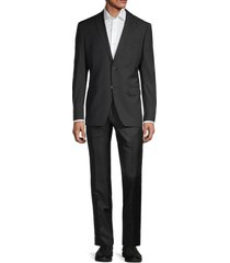 john varvatos star u.s.a. men's standard-fit wool-blend suit - black - size 40 r