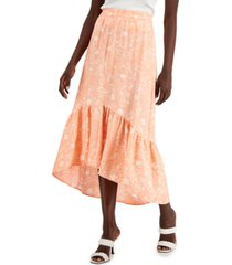 inc international concepts petite high-low ruffled skirt, created for macy's