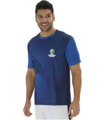 camiseta copa américa 2019 torcida - masculina - azul escuro