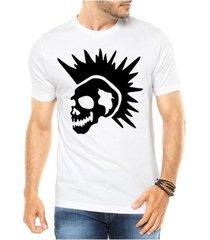 camiseta criativa urbana caveira punk