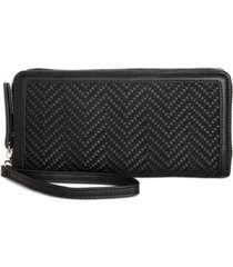 inc hazell zip around woven wallet, created for macy's