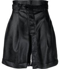 philosophy di lorenzo serafini faux-leather shorts - black