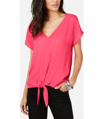 inc petite tie-front top, created for macy's
