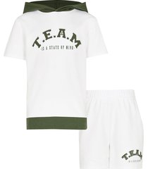 river island age 13+ white 'team' hoodie outfit
