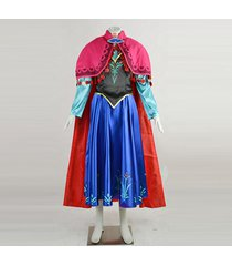 frozen anna costume anna blue winter dress cosplay full outfit custom any size