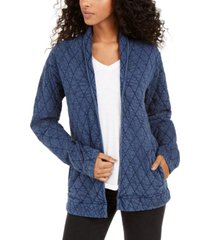 lucky brand quilted open jacket