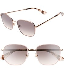 women's kate spade new york kiylah 53mm square sunglasses - pink/ gold