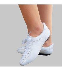 sapatênis branco confort couro tênis confort