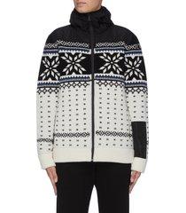 'aspen flake' hooded sweater