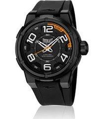 relógio everlast esporte e688 48mm silicone masculino