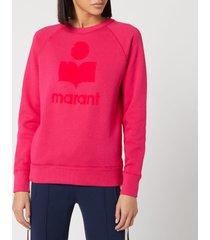 isabel marant étoile women's milly sweatshirt - neon pink - fr 40/uk 12