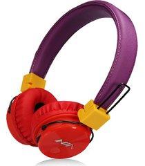 audífonos gamer, gaming estéreo hd inalámbricos audifonos bluetooth manos libres de los auriculares originales de nia x3 deportivos con la radio de la tarjeta fm del tf de la ayuda del micrófono (multicolor)