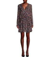 iro women's floral-print mini dress - black - size 36 (4)