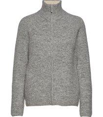 kaizen zip knit stickad tröja cardigan grå fall winter spring summer