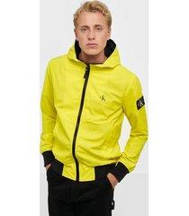 calvin klein jeans hooded blocking nylon jacket jackor solar