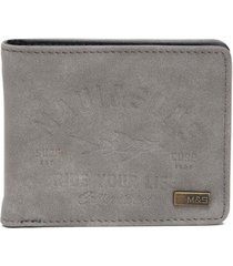 billetera hombre gris maui and sons