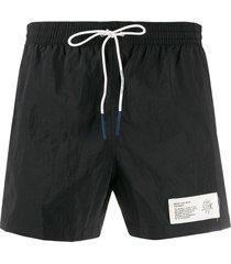 eleventy drawstring swim shorts - black