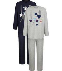 pyjama g gregory lichtgrijs::marine