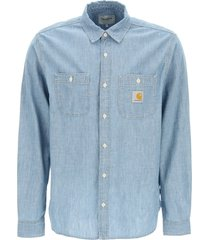 carhartt clink denim shirt
