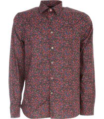 ps by paul smith tailore fit l/s shirt w/flowers