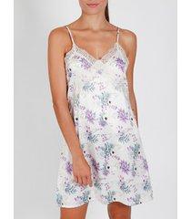 pyjama's / nachthemden admas romantische nachtpon ivoor