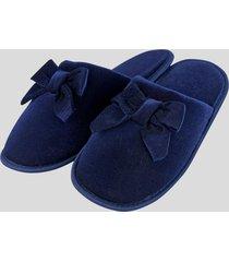 pantuflas de descanso lazo azul baziani