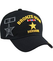 u.s military bronze star heroism cap hat armed forces veteran us black
