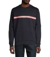 bally men's logo stretch-cotton sweatshirt - navy - size l