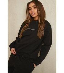 gerecyclede woman sweater, black