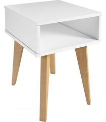 mesa de canto azaléia 1 nicho branco - falkk