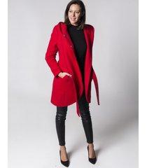 płaszcz z kapturem czerwony holystic