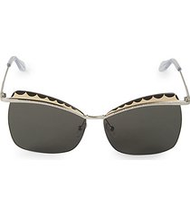 60mm scalloped cat eye sunglasses