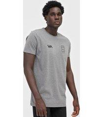 camiseta rvca double dawn cinza
