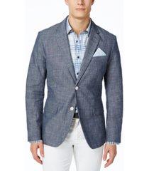 tasso elba men's chambray blazer, created for macy's