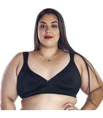sutiã vi lingerie plus size sem bojo reforçado duplo feminino - feminino