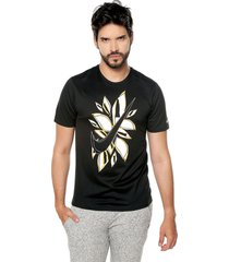 camiseta negra-blanco nike fiesta flora