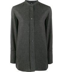 aspesi loose-fit wool shirt - grey