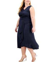 taylor plus size satin dress