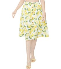 bcbgeneration button front lemonade skirt
