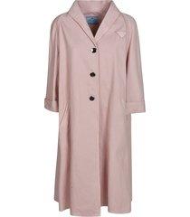 prada flared coat