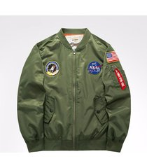 winter mens ma-1 pilot bomber jacket nasa embroidery air force flight jacket
