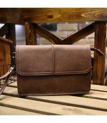 affari retrò frizione borsa pu grande capacità portafoglio portafoglio casuale telefono borsa per gli uomini