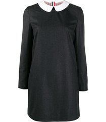 thom browne peter pan collar shift dress - grey