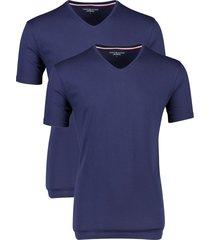 t-shirt tommy hilfiger v-hals donkerblauw