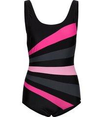 action swimsuit baddräkt badkläder svart abecita
