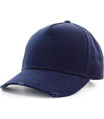 dsquared2 navy blue baseball cap with white logo