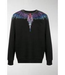 marcelo burlon county of milan sharp wings-print cotton sweatshirt