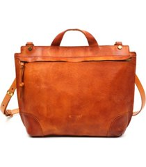 old trend brookside leather messenger bag